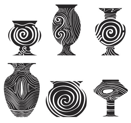 earthenware: antique earthenware icon Illustration