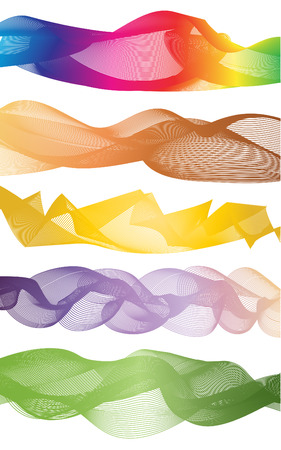 curve rainbow graphic pattern