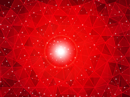aureole: polygon gradient red background