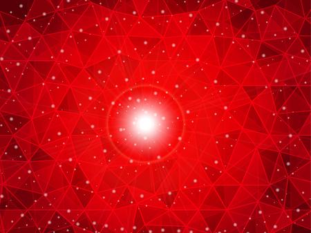 prestige: polygon gradient red background