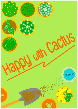 plantae: Happy with the hobby by planting cactus.