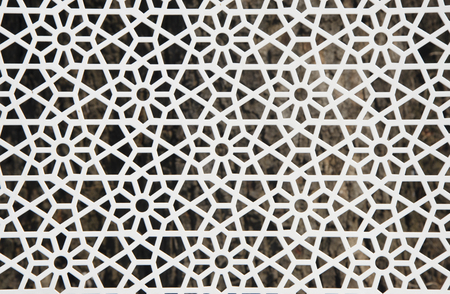 inference: openwork edge flower pattern