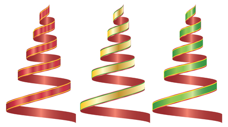beautify: ribbon set three color Illustration