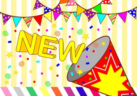 nobel: background new party Illustration