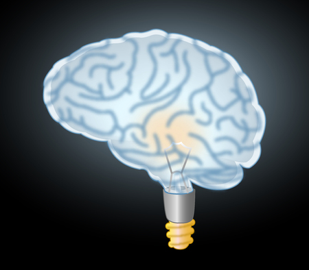 immensely: brain lamp eureka Stock Photo