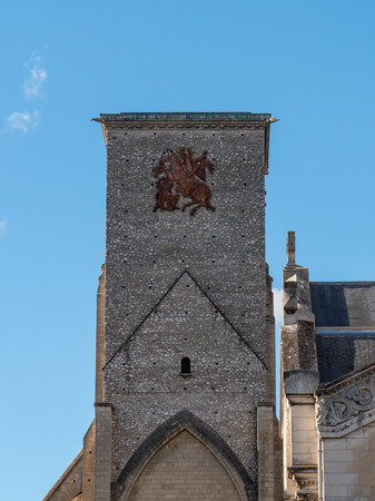 The Charlemagne Tower is a remnant of an old basilica dedicated to Saint Martin de Tours and located in Tours, rue des Halles, in the historic centre of the city.