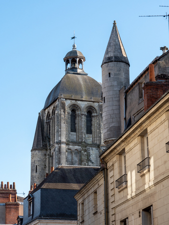 Old tower in the city of Tours, France
