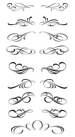 Calligraphic design elements Stok Fotoğraf - 56582975