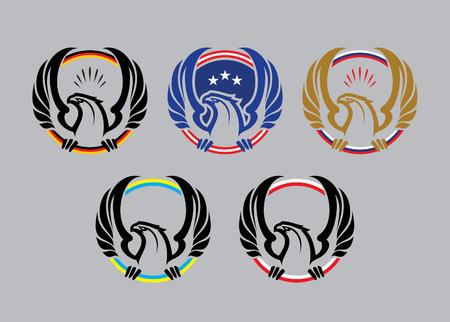 russian culture: Eagle sport mascot Illustration