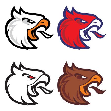 russian culture: Eagle head sport logotype Illustration