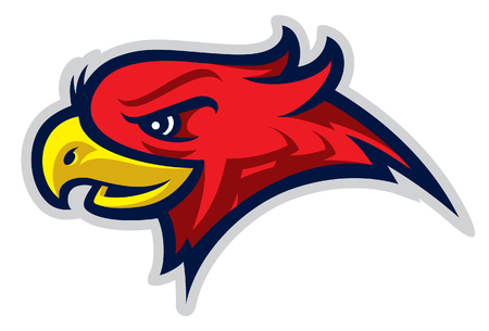 headed: Eagle head sport logotype Illustration