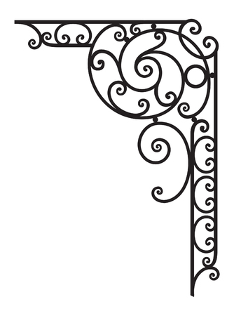 baroque picture frame: Decorative Corner Frame Illustration