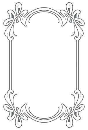 baroque picture frame: Decorative frame