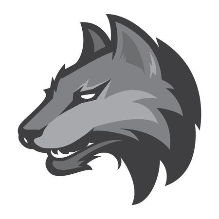 dog sled: Wolf sport logotype