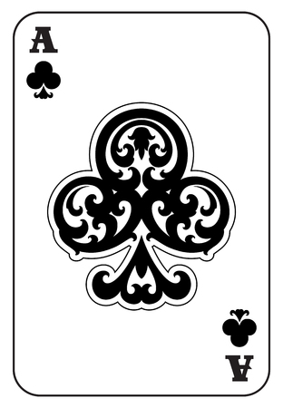 black jack: Ace of Clubs