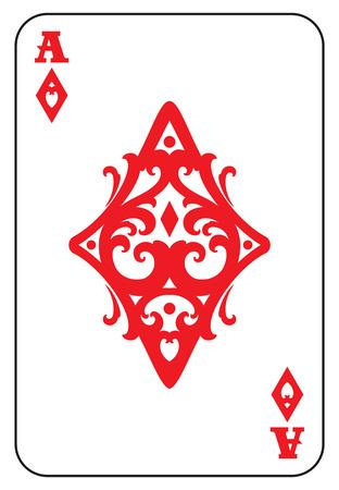 ace of diamonds: Ace of Diamonds Illustration