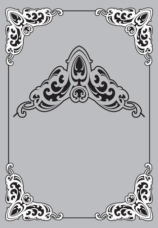 vectorized: Decorative frame. Vectorized Art Nouveau frame Design.