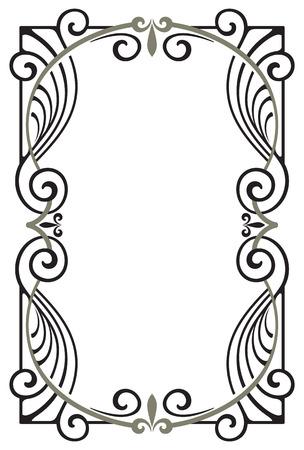 computer art: Decorative frame. Vectorized Art Nouveau frame Design.