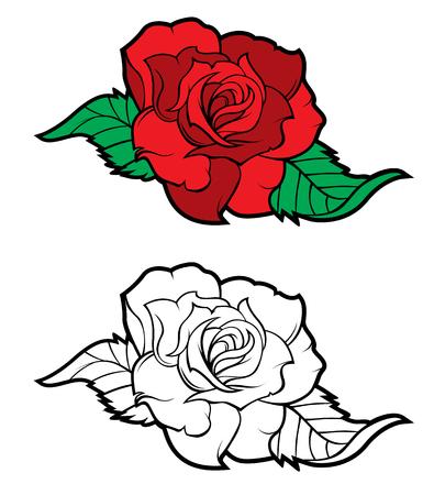 Las rosas rojas aislados en blanco. Flores