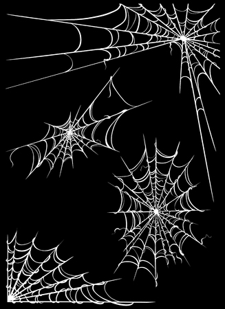Set of spider web. Design elements