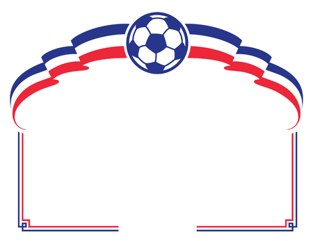 french flag: Soccer ball with french flag. Football design element