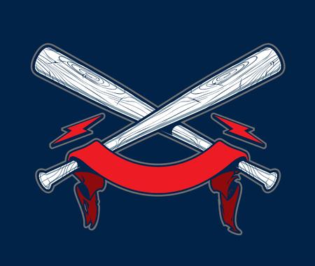 Baseball bats with ribbon
