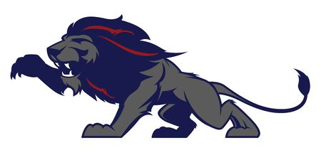 Roaring lion sport logotype. Label