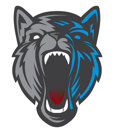 Wolf Head logotype. Great for sports logos & team mascots.
