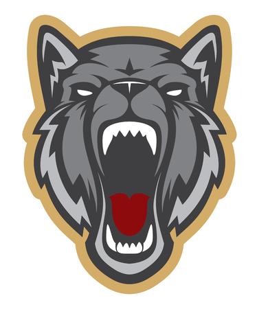 Logotipo de cabeza de lobo. Ideal para logotipos deportivos y mascotas del equipo. Logos