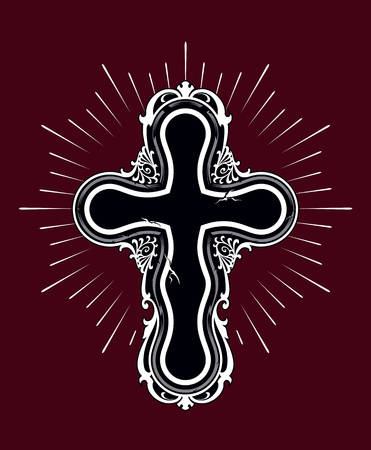Christian cross design element