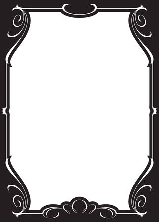 Decorative old-fashioned frame.