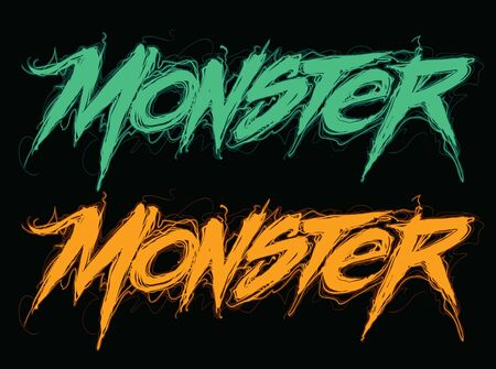Monster Handwritten modern brush lettering