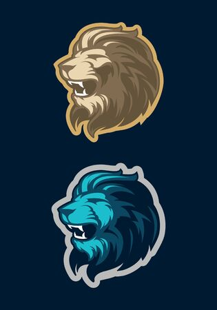 Roaring lion head mascot. Great for sports logos & team mascots.
