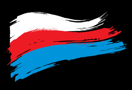 The flag of Russia. Tricolor