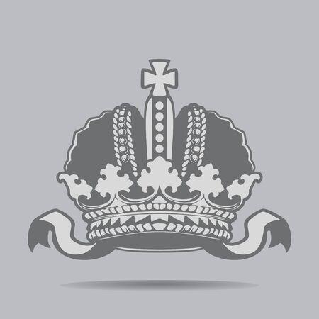 Crown icon. Russian monarchy. Design element