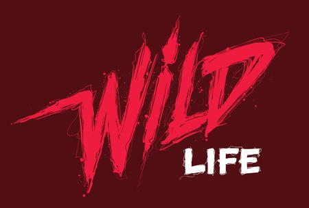 Wild life. Handwritten modern brush lettering