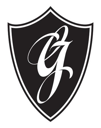 Letter G logo icon design template elements. Logotype, label, emblem.