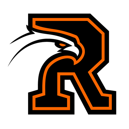 Letter R with eagle head. Great for sports mascots.
