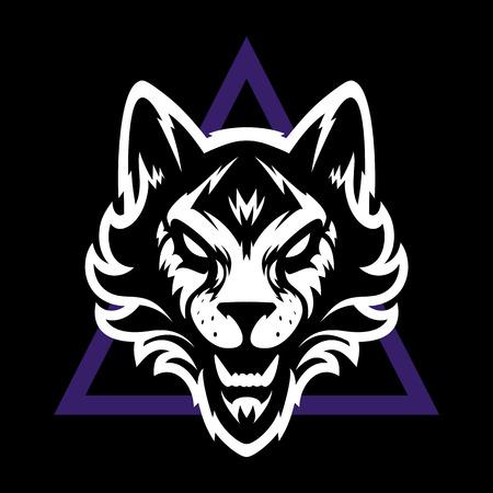 Wolfskopf-Logo. Ideal für Sportlogos und Teammaskottchen.