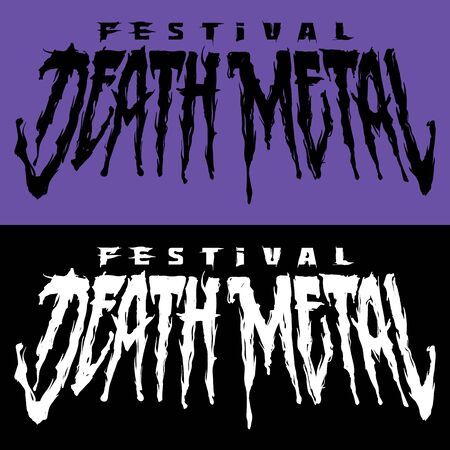 Banner for death metal music festival