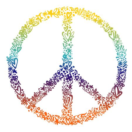 Vector illustration of colorful peace symbol
