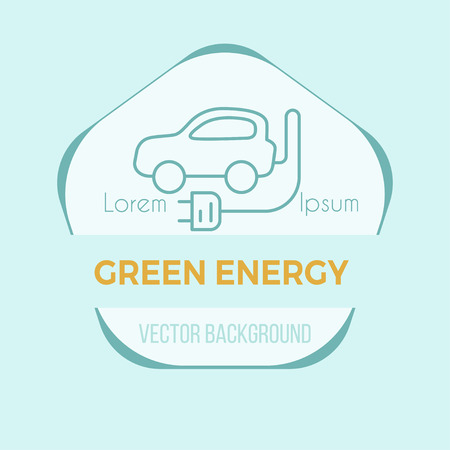 Green energy poster - vector flyer design.