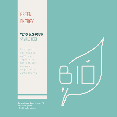 Green energy concept  vector symbols of  energy with place for your text. Vectores