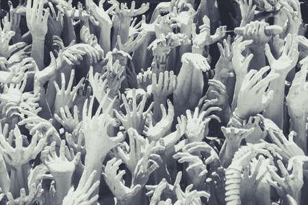 encroach: Passion Hand sculpture