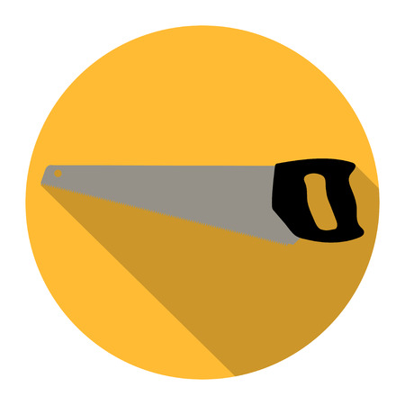 toothed: I saw in a yellow circle with  a shadow Illustration
