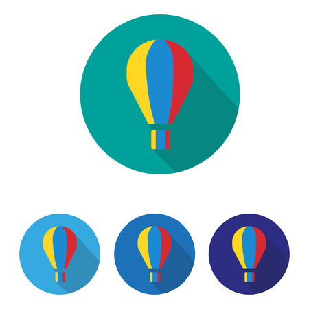 crook: Colorful parachute on a gray background in the green  Crook Illustration