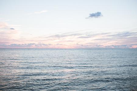 Beautiful sunrise on the quiet shores of the Black sea