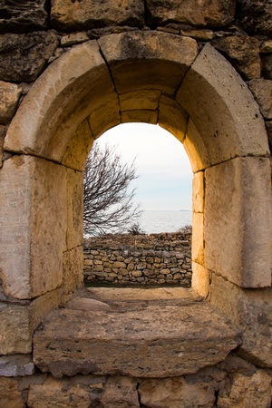 Window in Chersonesos ruins