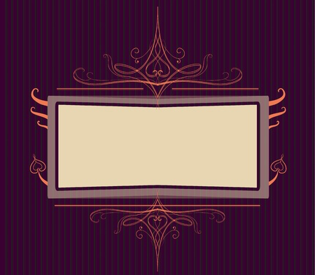 Royal purple Ornate turn of the century frame  Easy to edit because of many named layers  Stock Vector - 19934717