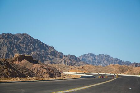 Road to Sharm El Sheikh, Egypt, South Sinai 写真素材